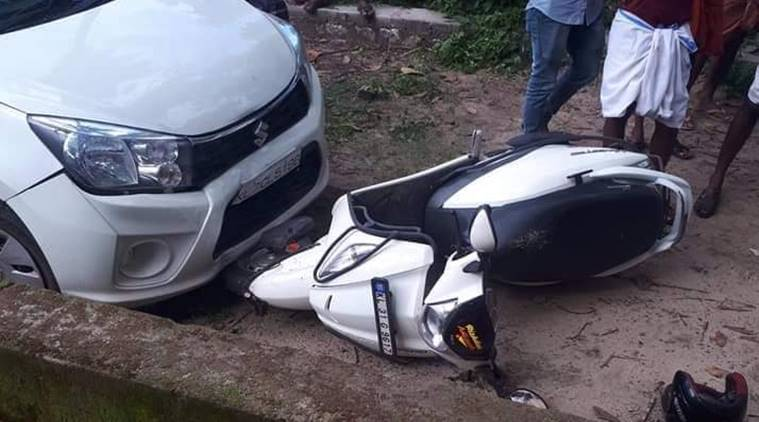 Soumya, who was overseeing the Student Police Cadet (SPC) test in the area, was returning home on her scooter when Ajas, in a Maruti Suzuki Celerio, hit her vehicle in the Naluvila area