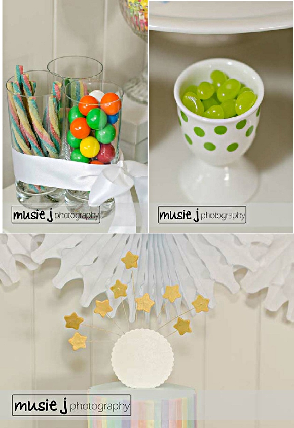 An Elegant Adult Rainbow Party DIY Decor - via BirdsParty.com
