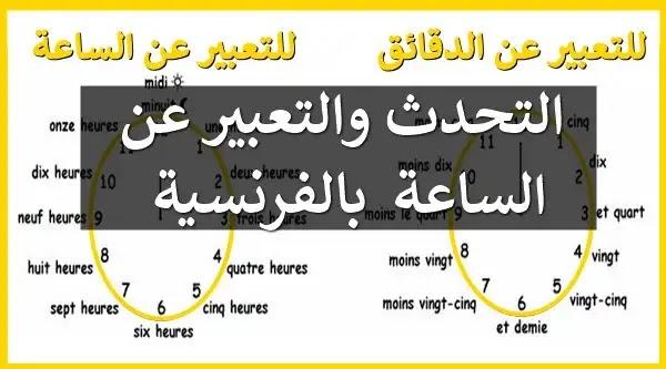 السؤال عن الوقت بالفرنسية - كم الساعة بالفرنسية