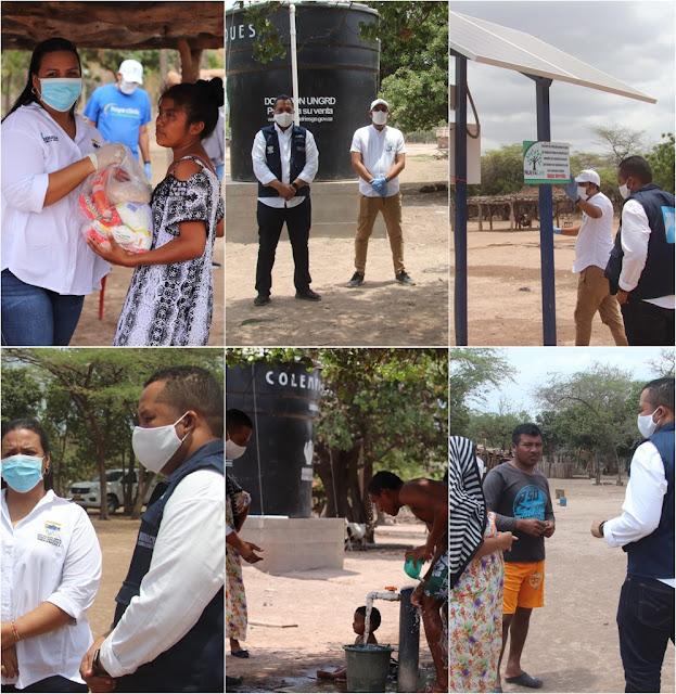 Alcaldía de Riohacha y Fundación Nueva Life entregaron pozo de agua y ayudas