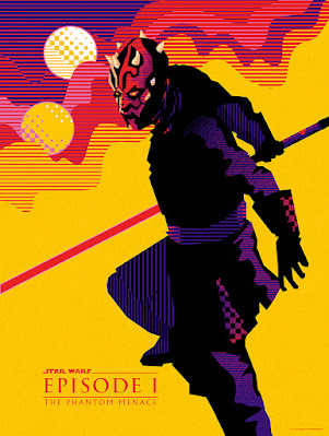 """San Diego Comic-Con 2021 Exclusive Star Wars The Phantom Menace """"The Apprentice"""" Screen Print by We Buy Your Kids x Mondo"""