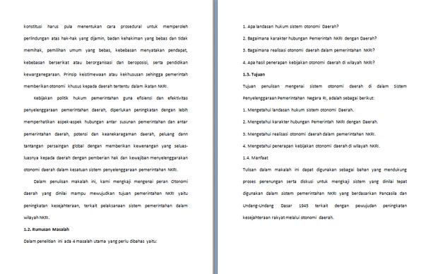 Contoh Makalah Sistem Pemerintahan Indonesia