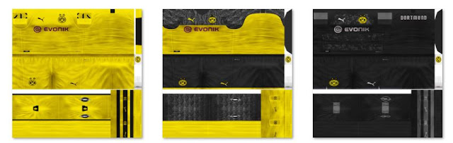 ultigamerz: PES 6 Borussia Dortmund 2019-20 Home, Away & Euro Kits