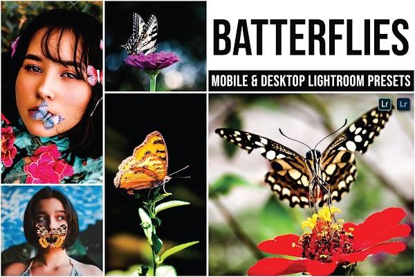 Nature Photos - Batterflies Mobile and Desktop Lightroom Presets