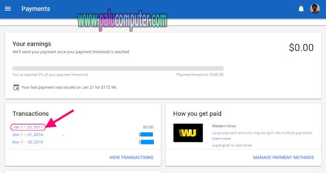 cara mengambil uang di google adsense
