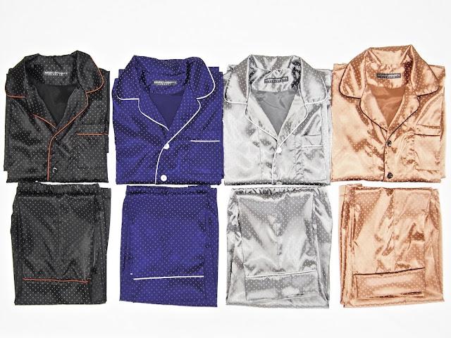 Herren Schlafanzug Satin Seide edel elegant exklusiv Pyjama für Männer große Größe 3xl 4xl