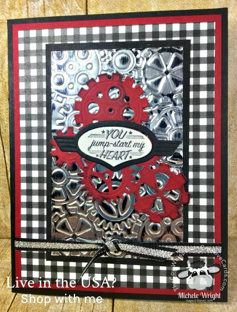 Card, Geared Up Garage, Masculine, Valentine