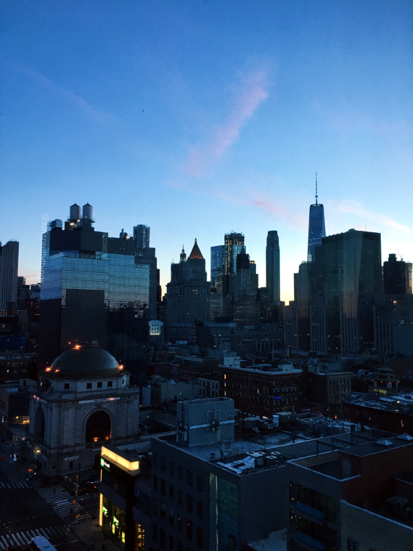 Downtown Manhattan at dusk - New York City - Tori's Pretty Things Blog