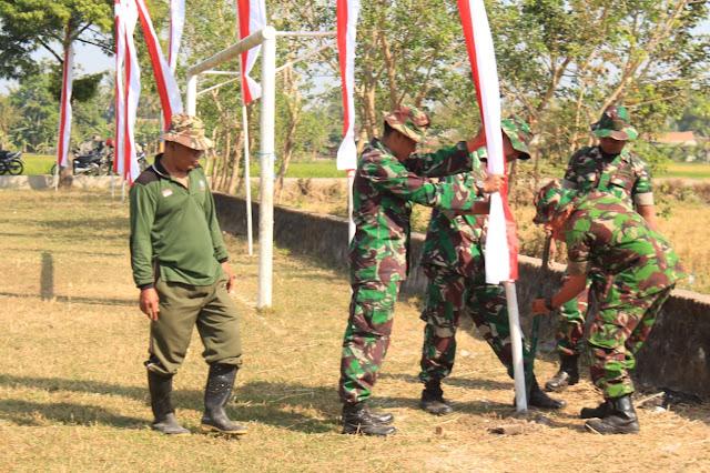 Umbul Umbul Merah Putih Mulai Dikibarkan Di Lapangan Trimurti, Tempat Dibukanya TMMD Reg 105