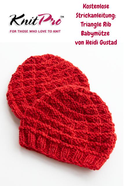 Kostenlose Strickanleitung: Triangle Rib Babymütze von Heidi Gustad