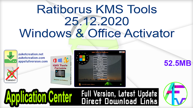 Ratiborus KMS Tools 25.12.2020 Windows & Office Activator