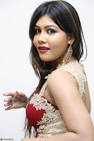 Rachana Smit in Red Deep neck Sleeveless Gown at Idem Deyyam music launch ~ Celebrities Exclusive Galleries 097.JPG