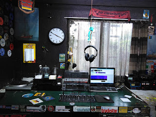 The studio of Dutch pirate Radio Scotland - November 2018