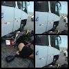 Grave acidente envolvendo uma moto e um ônibus na manhã de hoje na rua Baldômero Chacon, em Currais Novos,RN