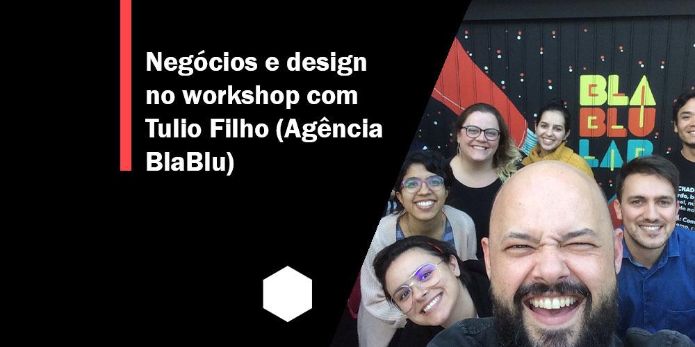 Imagem em estilo Selfie com todos os participantes do Workshop, em destaque Tulio Filho.
