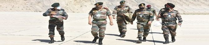 CDS Gen Bipin Rawat Visits Forward Posts Along LAC With China In Central Sector