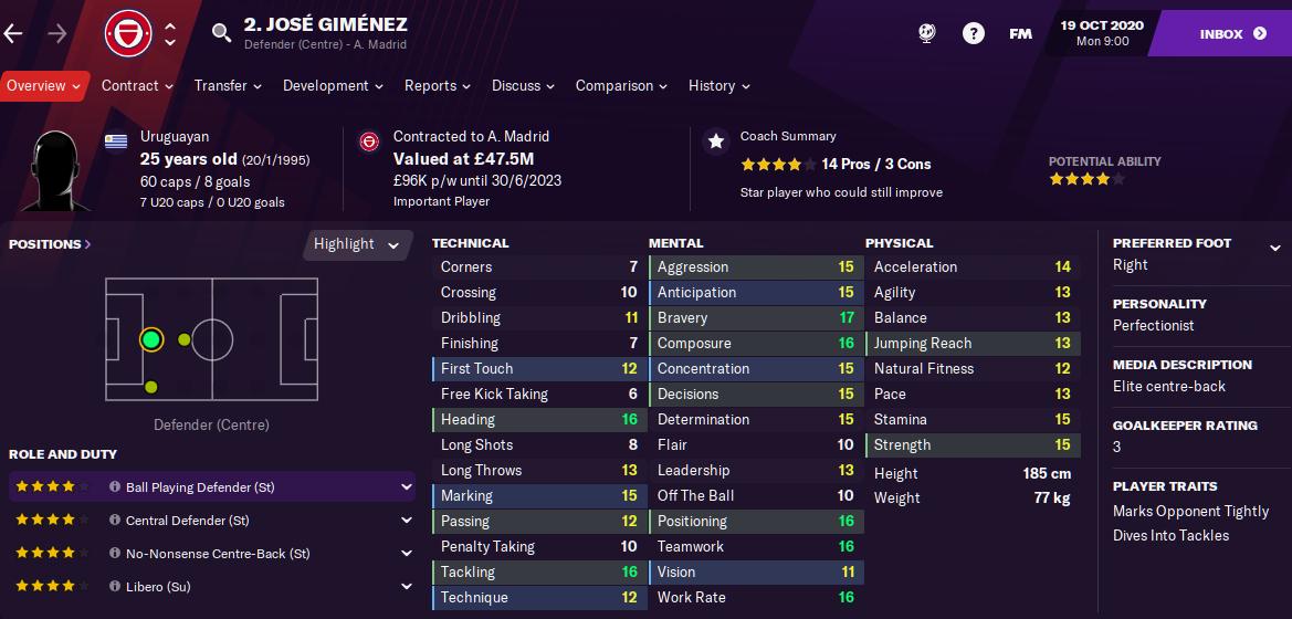 FM21 Jose Gimenez
