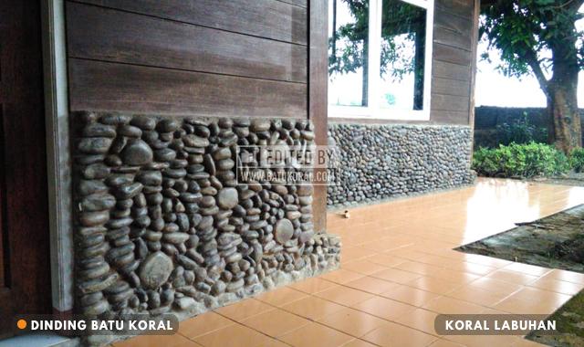 dinding batu koral