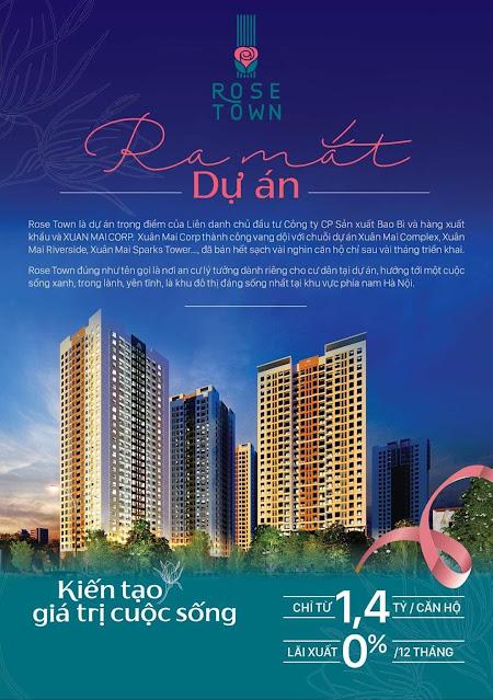 Ra mắt dự án chung cư Rose Town Ngọc Hồi