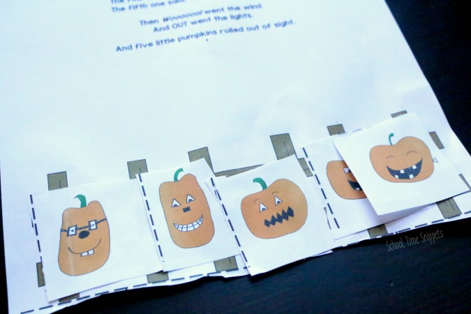 Five Little Pumpkins Printable