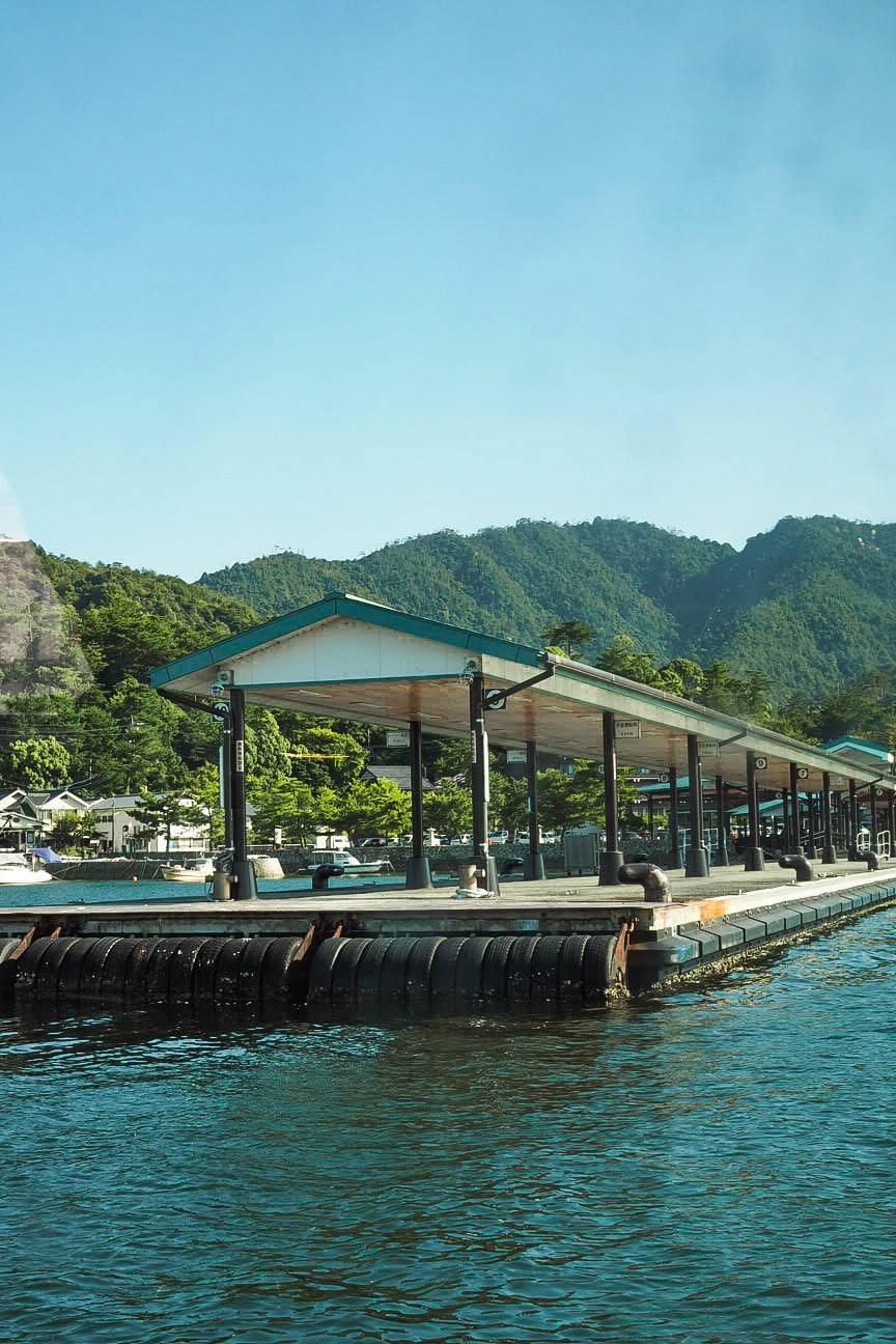 Boat jetty at Miyajima