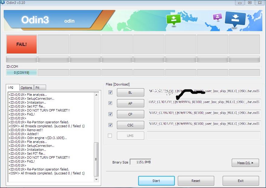 samsung G530h flashing error .odin
