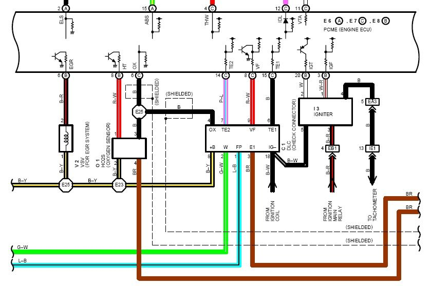 1993 Toyota MR2 Wiring Diagram  Wiring Diagram Service