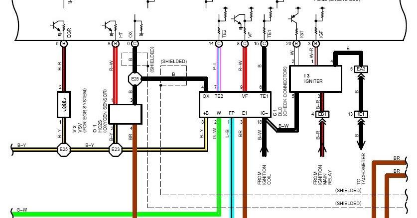 1993 Toyota MR2 Wiring Diagram  Wiring Diagram Service Manual PDF