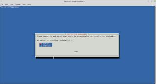 pemilihan web server di linux mint