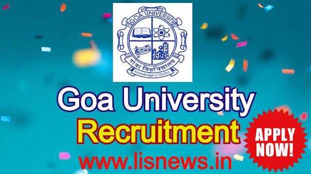 Professor, Associate Professor and Assistant Professor at Goa University