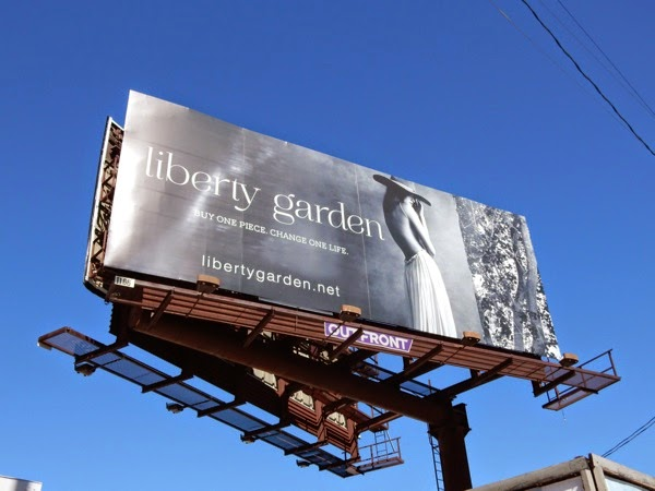 Liberty Garden Spring 2015 fashion billboard