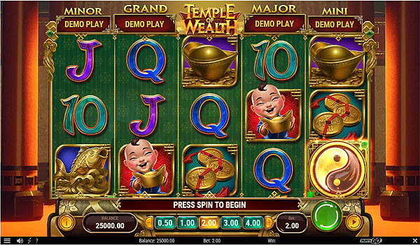 Main Gratis Slot Indonesia - Temple of Wealth (Play N GO)