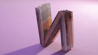 how to make money 3d origami alphabet N for kids gấp giấy chữ N bằng tiền giấy