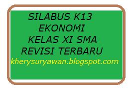 File Pendidikan Silabus k13 Ekonomi Kelas XI Revisi Terbaru