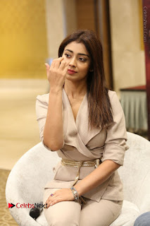 Actress Shriya Saran Stills in Stylish Dress at Gautamiputra Satakarni Team Press Meet  0073.JPG