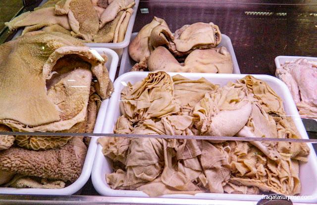 Dobradinha (trippa) vendida no Mercado Central de Florença