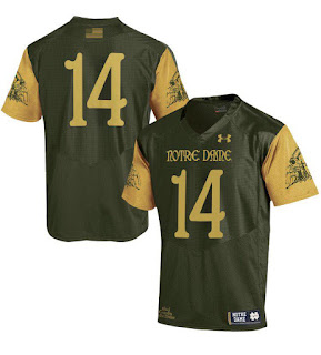 50ffecca210 Click on any of the pictures to order the official Under Armour Notre Dame  Shamrock Series 2016 Jersey!