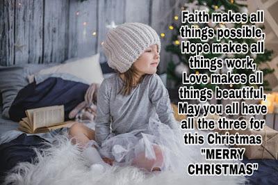 Faith makes all   Christmas wishes   2019