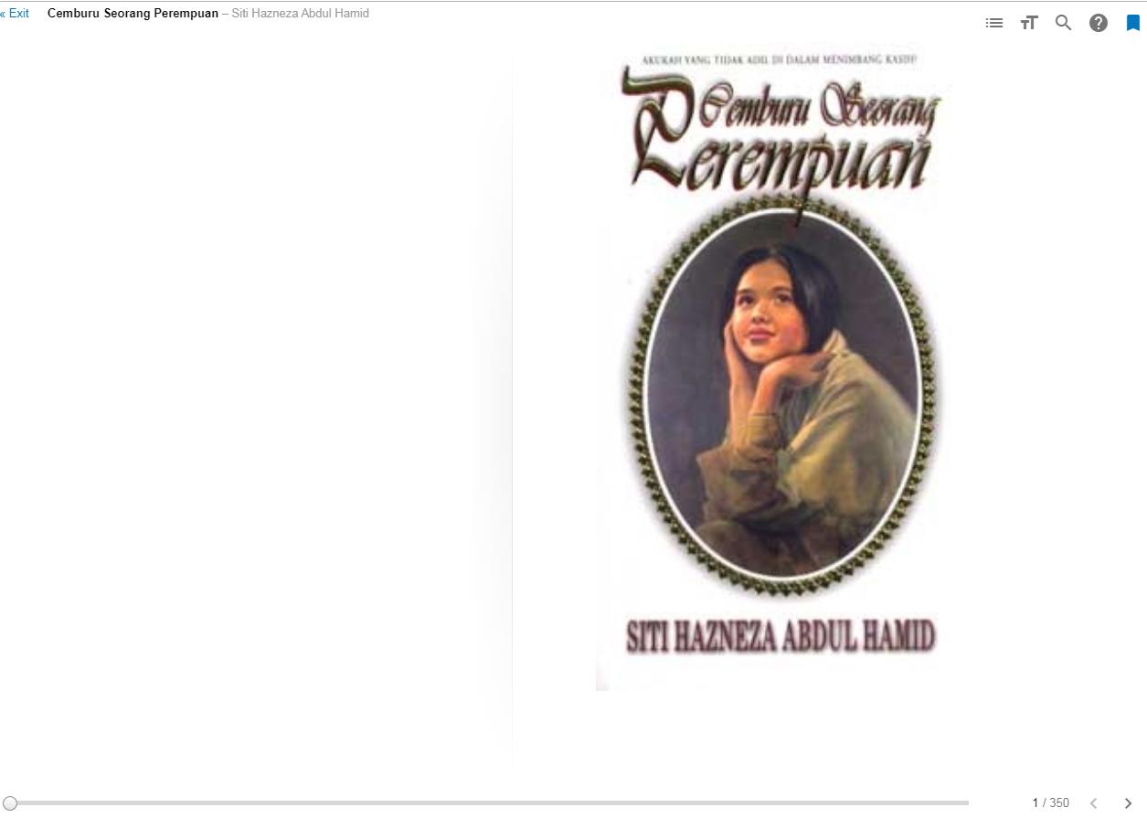 Novel Cemburu Seorang Perempuan - Siti Hazneza Abdul Hamid
