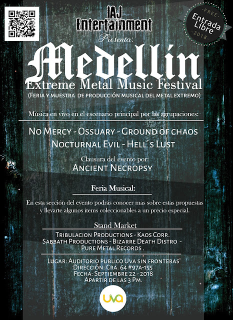 Memm Fest, colombian metal, metal colombiano, colombian death metal, colombian thrash metal, Ancient Necropsy Medellin