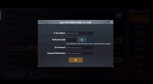 How to link PUBG Mobile account to Email ID