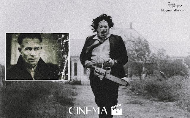 Ilustração do filme O Massacre da Serra Elétrica, baseado no assassino Ed Gein.