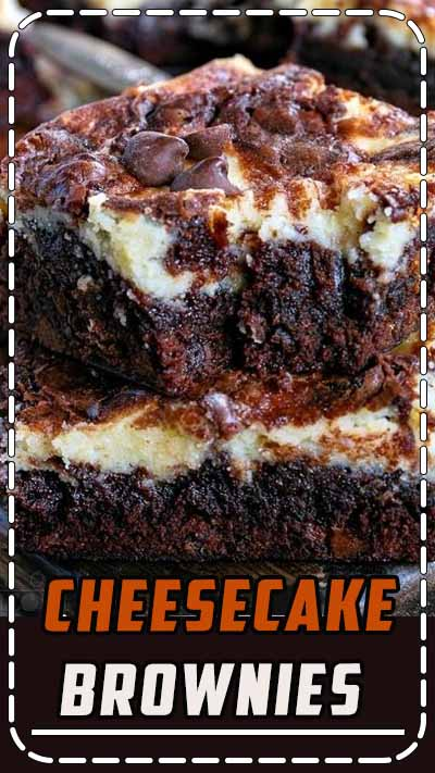 These Cheesecake Brownies are a mouth watering combination of two dessert favorites. Extra fudgy brownies topped with a creamy cheesecake layer makes for an extra impressive dessert that no will be able to resist. // Mom On Timeout #cheesecake #brownies #recipe #dessert #desserts #baking #chocolate #recipes