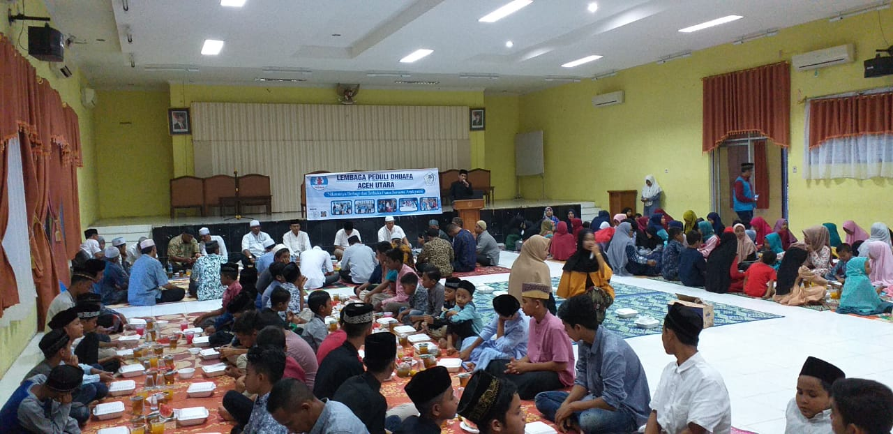 Lembaga Peduli Dhuafa Buka Puasa Bersama 100 Anak Yatim Piatu dan Dhuafa
