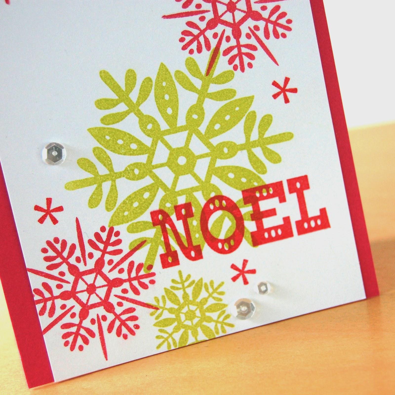 Stamping Lightly Noel Avery Elle