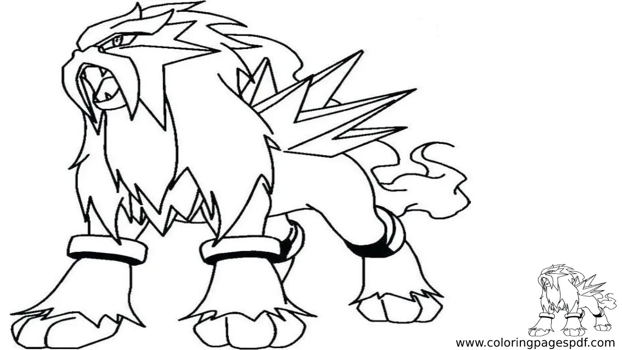 Coloring Page Of Entei