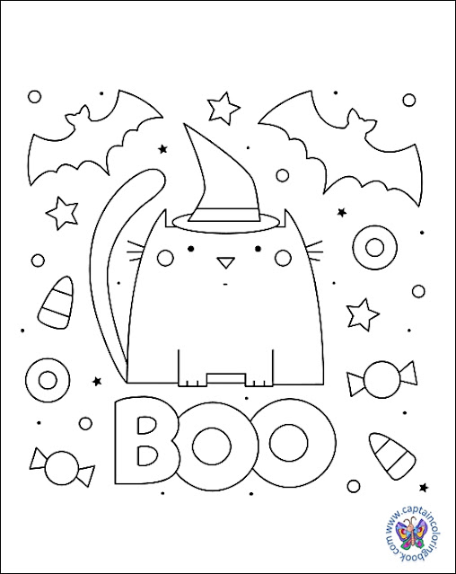 Ghost Coloring Page - Free