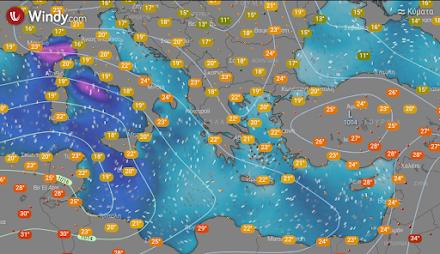 Ηλιοφάνεια αύριο σε όλη σχεδόν τη χώρα - Λίγες τοπικές βροχές στα ορεινά της Μακεδονίας