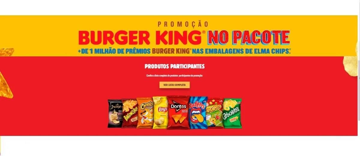 Promoção Fandangos Burger King No Pacote Prêmios elmachipsburgerking.com.br
