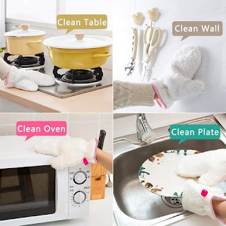 Fiber Dishwashing Gloves